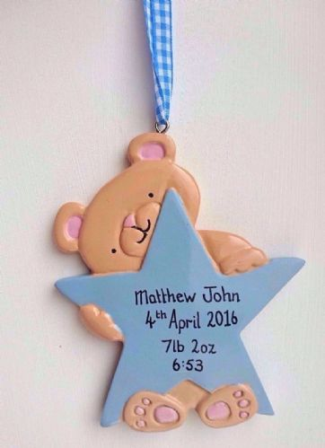 Personalised Teddy with Blue Star